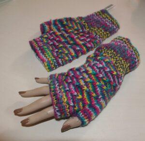 WA38 - Handschoen Vingerloos gebreid meer kleuren